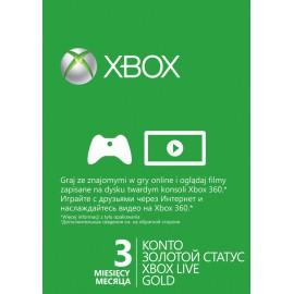 Карта подписки Xbox Live Gold 3 месяца
