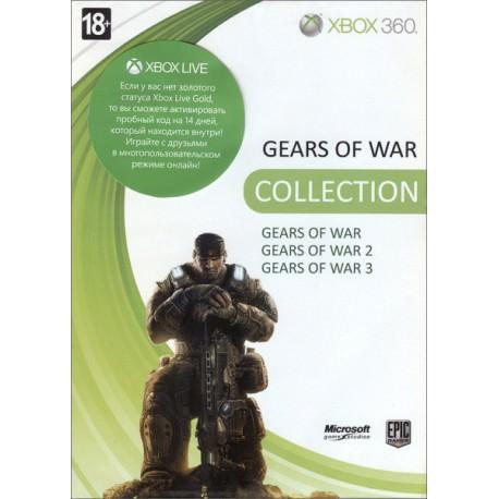 Gears of War + Gears of War 2 + Gears of War 3 + 14 Xbox Gold (Xbox 360)