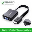 Кабель переходник HDMI - VGA с Audio и micro USB UGREEN