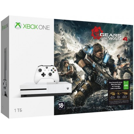 Xbox One S 1 ТБ + GEARS OF WAR 4 + Xbox LIVE 3 месяца